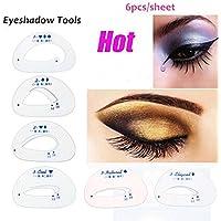 Gezichta - 6 plantillas de sombra de ojos para ayudante de aseo de la moda,