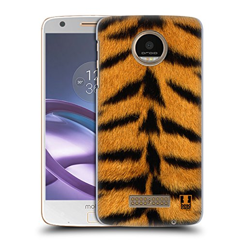 Head Case Designs Tiger Pelz Kollektion Ruckseite Hülle für Moto Z Force / Z Force Droid (Ultra Force-tiger)
