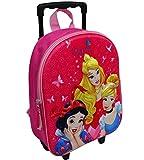 Unbekannt Disney Princess Trolley Rucksack Kindertrolley Koffer Mädchen Prinzessin Pink