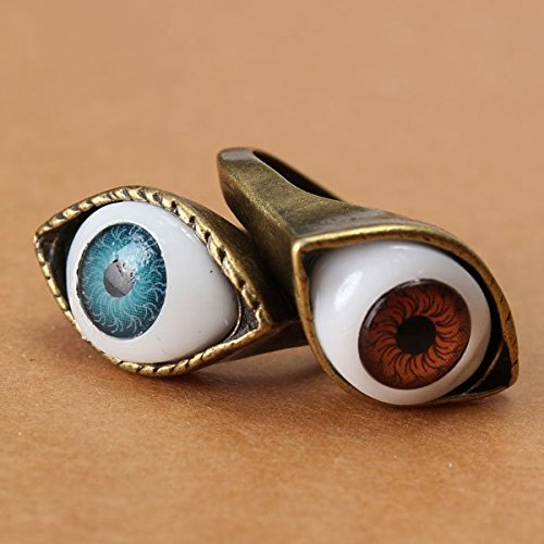 Halloween Vintage Punk Bronze Evil Eye Ring Anello Eyeball Finger Ring (Evil Eye Anello)