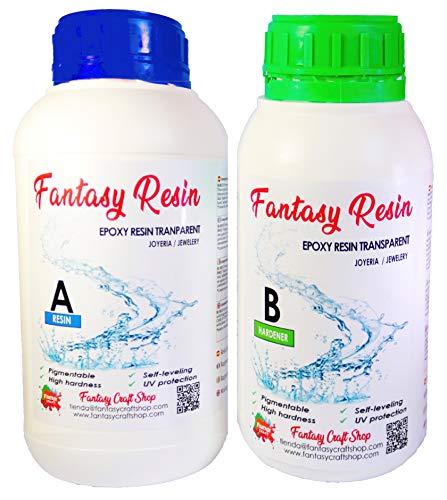 Fantasy Craft 0,75 kg Epoxidharz komplett transparent, hohe Härte und Festigkeit. Verschiedene Gewichte erhältlich, 0,75 kg.