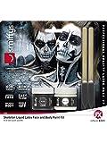 Halloween enia - Juego de Esqueleto líquido de látex para Hombre y Mujer, Color Negro y Blanco, sin amoniaco como Maquillaje o Maquillaje, Halloween Carnaval y Carnaval