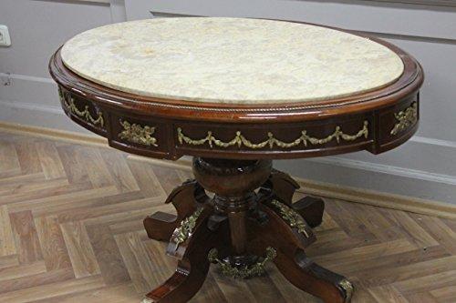 Table Baroque Rococo Louis MkTa0123Bg de marbre XV