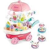 Kids SimulationToys, Ice Cream Candy Cart Juego de simulación Food Dessert Candy Trolley de Juguete