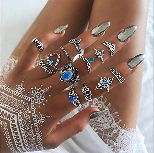 Fligatto - Juego de pendientes de plata para mujer, diseño retro, con...