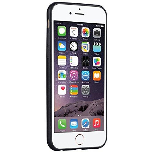 Custodia per iPhone 6/6S , GrandEver TPU Flessibile Ultra Sottile Gel Silicone con Impact Absorbing GommaAnti Scivolo Anti-urto Protettiva Bumper Cover Case - Rosso Nero