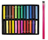Beauties Factory 24 x Hair Chalk Temporary Dye Colouring Styling Water Soluble Party Pastels
