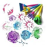 gugutogo 4pcs / Set cepillos de la Esponja de la Pintura de DIY Herramienta plástica de la Pintura de la Esponja de los Niños (Color