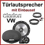 CLARION Lautsprecher mit Einbau-Kit speziell für VW Golf 4