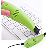 USB Cleaner with Brush & LED Light for Computer Laptop PC