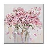 Sieben Wall Arts–Gerahmt Schönes Rosa Blumen Gemälde Blumen in die Vase Gespannte Leinwand für Wohnzimmer