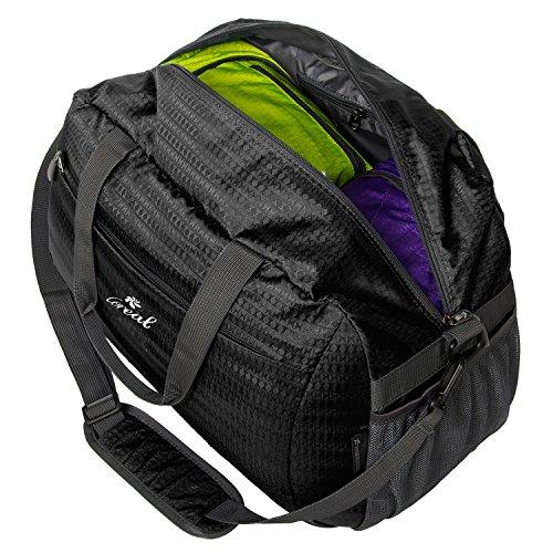 Coreal Duffle Bag mier weekender seesack tasche reisetasche mit schuhfach unisex sporttasche Schwarz