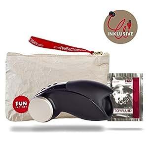 Fun Factory COBRA LIBRE V2 schwarz Masturbator Männervibrator (inklusive Tasche + Gleitgel) Eichelstimulator