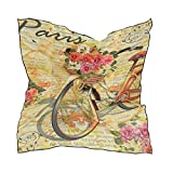 Aeykis Vintage Poster Newspapers Paris Eiffel Tower Bike Women's silky Square Scarves...