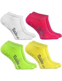 Rainbow Socks Calcetines Cortos ANTIDESLIZANTES Coloridos calcetines BAJOS de algodón, Perfectos para: Suelo Resbaladizo