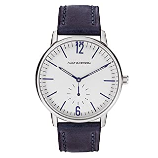 Adora Design Men's Watch with leather strap 40mm Stainless Steel Small S AD8940