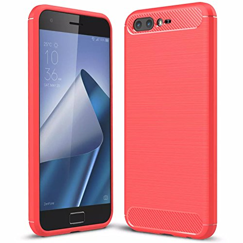 Handy Lux® Schutz Hülle Case Cover TPU Silikon für Xiaomi Redmi 4X, Rot