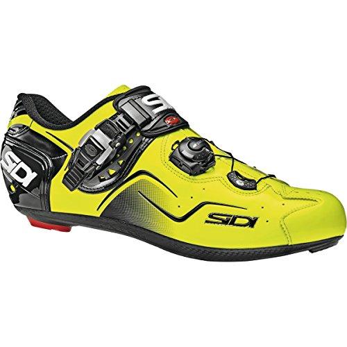Chaussures route KAOS Cyclisme Sidi jaune fluo/noir verni