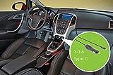 Eurosell 3.0 A USB-C TYP C Ladegerät KFZ 12V 24V Auto LKW Boot Wohnmobil Netzteil schwarz