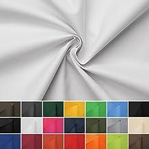 Carry - Lona de tela impermeable - 100% poliéster - 21 colores - Por metro (blanco)