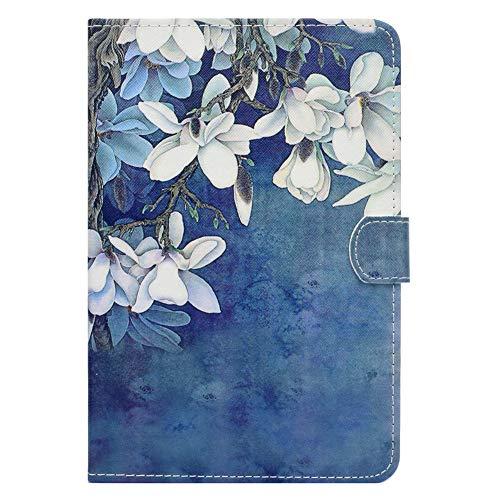 Tulpe Blüte (Coopay Tab A 8.0 Hülle,für Samsung Galaxy Tab A 8 Zoll T350 Lederhülle,Ultradünne 360 Grad Smart Cases Cover Schutzhülle,Stoßfest Ständer mit Weich Rückseite Etui Bumper,Muster Schön Blau Tulpe Blüte)