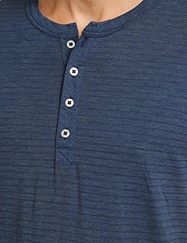 Schiesser Herren Zweiteiliger Schlafanzug Funktionswäsche Anzug Lang M Knopfleiste Blau (Dunkelblau 803)