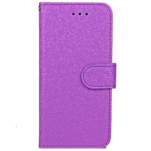 """Trumpshop Smartphone Case Coque Housse Etui de Protection pour Apple iPhone 7 Plus 5.5"""" (Série 3D) + Violet + Ultra Mince Smarphonetcoque Portefeuille PU Cuir Avec Fonction Support Anti-Choc Anti-Rayu Violet"""