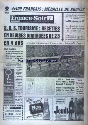 FRANCE SOIR 7 EME EDITION du 22/10/1964