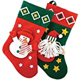1x 3d calcetín de muñeco de nieve 'Navidad'