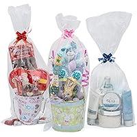 Life Solutions Products LSP – 12 bolsas de celofán para cesta de regalo – para embalaje de regalo y fabricación de cesta – 22,8 cm de ancho x 50,8 cm de alto – incluye 12 pequeños lazos de tirar