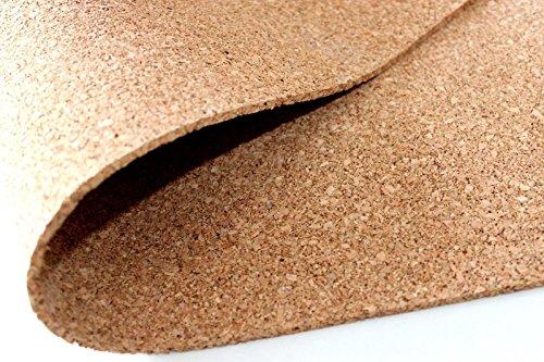 Preisvergleich Produktbild Pinnwand Korkplatte 100 x 50 cm - Stärken: 2 mm feine Körnung hochelastisch und antistatisch Sonderposten