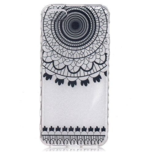 iPhone SE Coque, iPhone 5S Coque, Lifeturt [ Fleur bleue ] Housse Anti-dérapante Absorbant Chocs Protection Etui Silicone Gel TPU Bumper Case pour Apple iPhone SE 2016 & iPhone 5S 5 E02-Black Dreamcatcher5843