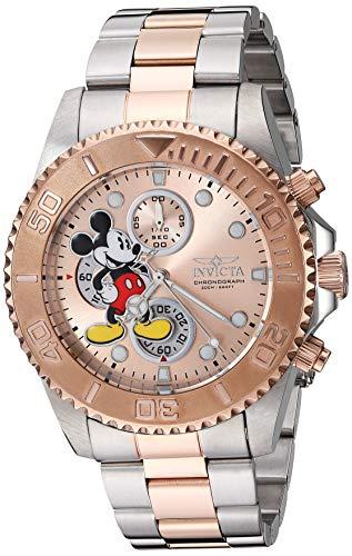 Invicta 27391 Disney Limited Edition Mickey Mouse Unisex Uhr Edelstahl Quarz roségoldenen Zifferblat (Rose Uhr Invicta)