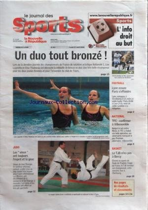 JOURNAL DES SPORTS (LE) [No 553] du 21/04/2008