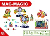 Happy GiftMart DIY 3D Magical Magnetic Construction Stacking Building Block Learning & Creativity