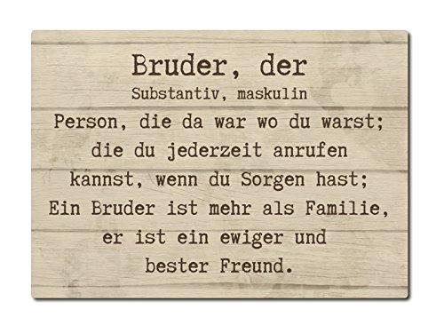 LUXECARDS POSTKARTE aus Holz BRUDER, DER Grußkarte Geschenk Geschwister