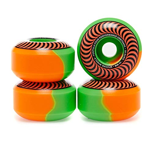 Spitfire Formula Four Classic 50/50 Swirl 99du 53mm Skateboard Wheel 53mm Orange Green (Spitfire Wheels Classics)