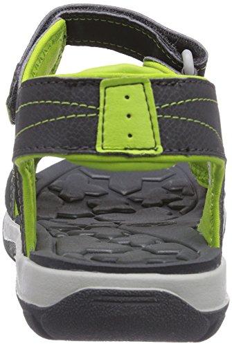 Timberland Sporty Sandal FTK_Mad River 2 Strap, Sandali sportivi Unisex-Bambini Grigio (Dark Grey/Green)