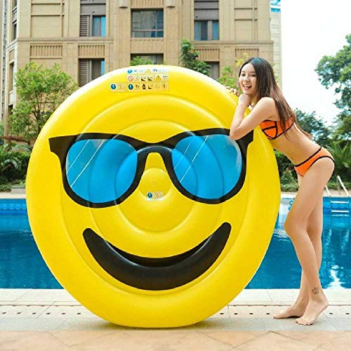 DARLING 220cm Inflatable Giant Eggsplantage Pool Float Matratze Wasserparty Spielzeug Sonnenbad Bed Swimming Ring New Fruit Circle Beach Mat 150 cm, Glas