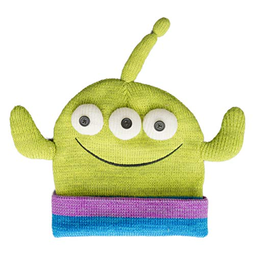 ConceptOne Disney Pixar Toy Story Alien Face Movie Character Peruvian Knit Beanie - Aliens Aus Toy Story Kostüm