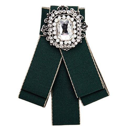 lich Pin Fliege Accessoires Kleidung Mode Temperament Leinwand 4 6 * 11 8 Cm,Green-OneSize (Green Elf-hut)