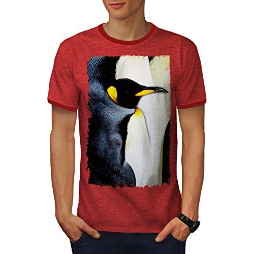 Pinguin Ringer T-shirt (Kaiser Pinguin Schnabel Antarktika Herren M Ringer T-shirt | Wellcoda)