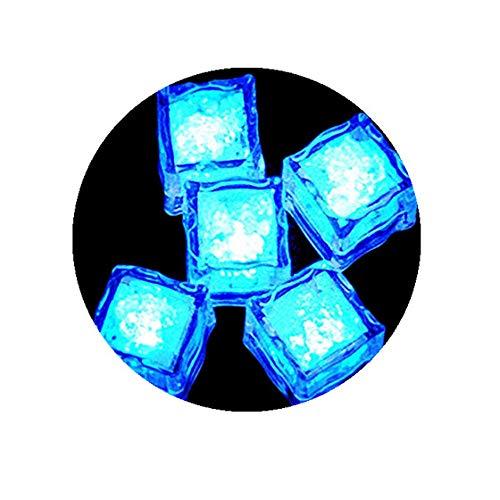 tetes Illuminated Ice Cube,Deko Eiswürfel Leuchtend blinkend im Licht Kunststoff Würfel wasserdicht mit Batterie geeignet für Bar Party Hochzeit (Blau) ()