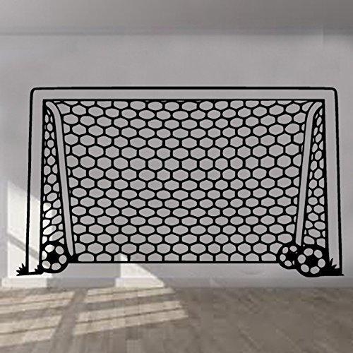 Price comparison product image Football Goal Net Wall Sticker Art Kids Room Boys Girls Decor BR46 (60cm x 103cm)
