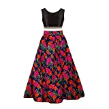 Sky Global Girl's Benglori Silk Semi-stitched Lehenga (8-12 Yrs)