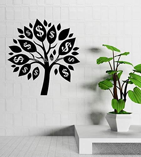 JJHR Wandtattoos Wandaufkleber Geld Baum Wandaufkleber Talisman Erfolg Room Decor Wandtattoo Decals Wohnzimmer Sofa Hintergrund Wand 42 * 44 cm (Geld-talisman)