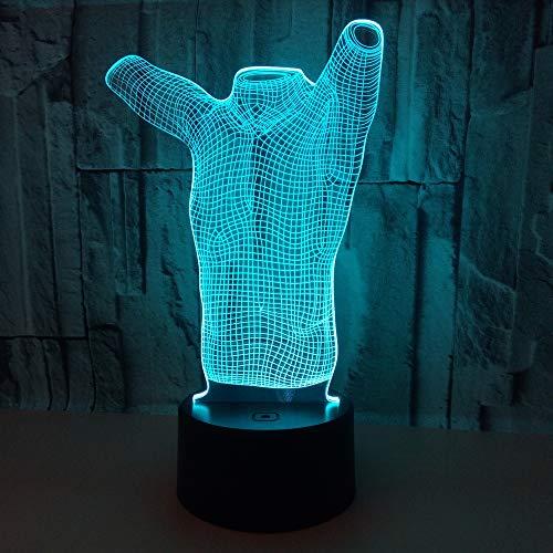 Kleidung Nachtlicht Touch Control 3D Nachtlicht Sieben Farben Kinder Lampe Schöne Schlafzimmer Nacht Baby Schlaf Licht -