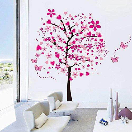 23 Off On Elecmotive Huge Size Cartoon Heart Tree Butterfly Wall