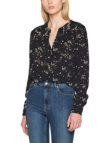 Only onlnova button shirt aop wvn, camicia donna, multicolore (black aop:east end), 40