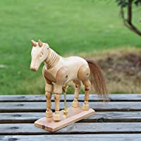 Earlywish Horse Mannequin Wooden Model Animal Mannikin Art Drawing Figure Statue Decor